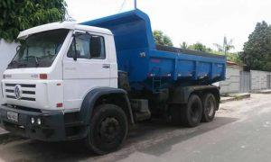 Bandido leva caminhão caçamba de pátio de posto em Bom Jardim. Dono oferece recompensa;