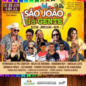 São João da Gente começa nesta sexta (23) na Praça Governador José Sarney.