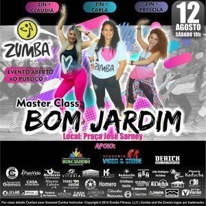 PROJETO fará aula gratuita de Zumba neste Sabado (12) na Praça Gov. José Sarney em Bom Jardim.