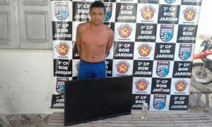 Suspeito de arrombamentos é preso pela Policia Militar em Bom Jardim