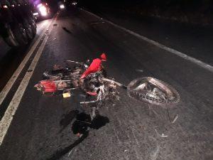 Motociclista morre após acidente com carreta na BR 316 em Bom Jardim