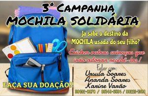 Grupo pede doação de mochilas para crianças em Bom Jardim