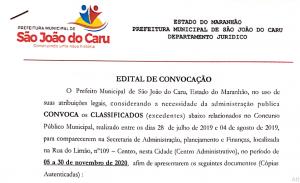 """Com pouca transparência, """"Xixico"""" convoca excedentes em São João do Caru"""