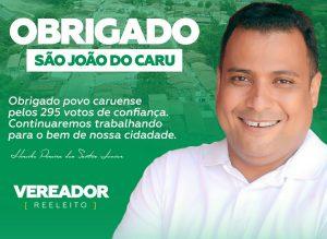 Conheça Junior, vereador reeleito para um 3º mandato seguido em São João do Caru