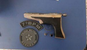 Policia prende homem por porte ilegal de arma em Bom Jardim
