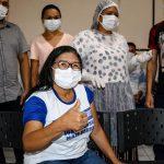 'Sentimento de alivio' Afirma primeira pessoa vacinada em São João do Caru