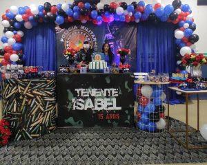 Isabel realiza sonho e tem participação da Policia Militar de Bom Jardim em seu aniversário