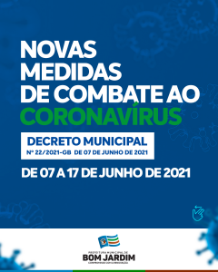 Com proibição de consumo de bebidas alcoólicas em locais públicos, Cristiane Varão prorroga decreto de restrições até o dia 17 de Junho em Bom Jardim