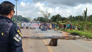 Em novo protesto, Índios Guajajaras fecham a BR 316 entre Bom Jardim e Santa Inês nesta terça (29)