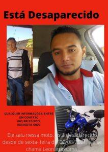 Familia procura bonjardinense que saiu de Goiás com destino ao Maranhão de motocicleta